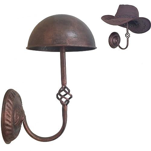 91975cce47fc7b Queens Vintage Design Copper Metal Cap Hat Rack Cowboy Hat Stand Holder Wig  Entryway Display Rack