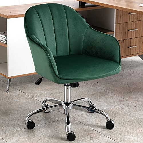 J&L Furniture Modern Velvet Desk Chair