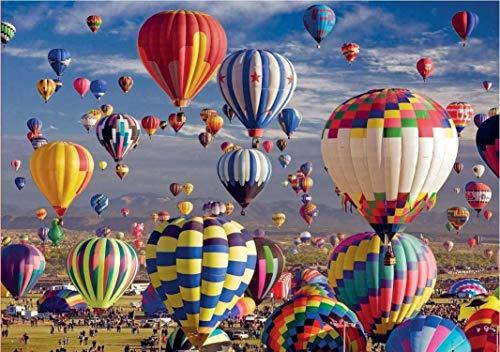 Puzzles 1000 Teile für Erwachsene und Jugendliche Home Decor Familienspiele für Spaß Lernspielzeug (Heißluftballon)