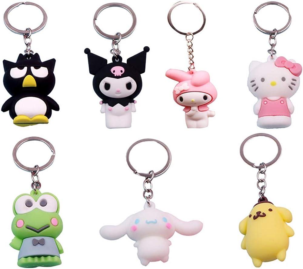 Max 49% OFF Kuromi Melody unisex Keychain Pom Purin Keys Toys 7 Anime Pcs Doll