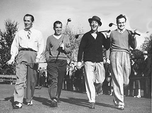 Gatsbe Exchange 8 x 10 Photo Bing Crosby and Bob Hope Playing Golf with Ed Sullivan