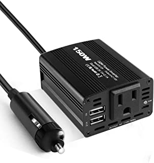 150W Power Inverter DC 12V to 110V AC Car Inverter with 2.1A Dual USB Car Charger