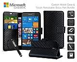 Microsoft Lumia 640 XL Dual SIM - Carbon Fibre Effect Folio