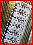 Etichette VOID di alta sicurezza, con ologramma 2D/3D, dimensioni 64 x 25 mm, certificate OF Authentity con numerazione sequenziale irripetibile e codice a barre, colore: nero