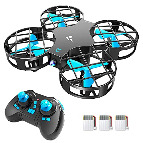 Snaptaⅰn H823H Indoor Mini Drone for Kids, RC Pocket Quadcopter with Altitude Hold, Headless Mode, 3D Flip, Speed Adjustment and 3 Batteries