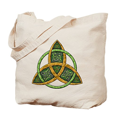 CafePress Celtic Trinity Knot Natural Canvas Tote Bag, Reusable Shopping Bag