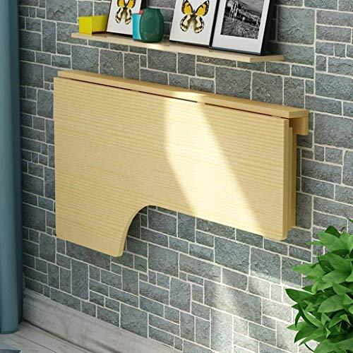 HUIQIN Tavolo a ribalta a parete, semplice scrivania pieghevole portatile, scrivania convertibile pieghevole salvaspazio (Size : 80x60cm)