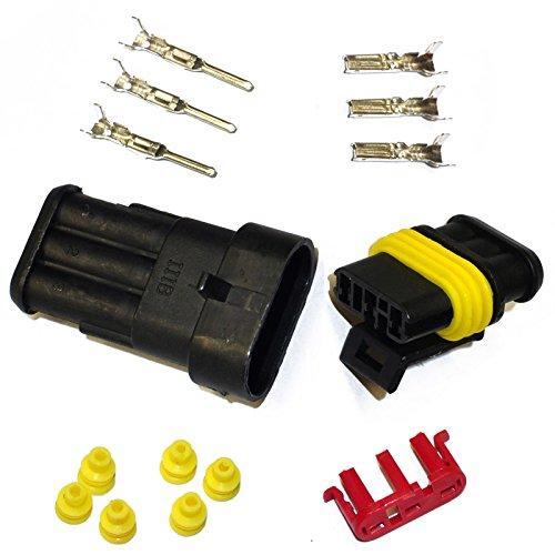 KFZ Ersatz Stecker – AMP Tyco Superseal 1.5 Kit 3-pin (SET) 282087-1, 282105-1