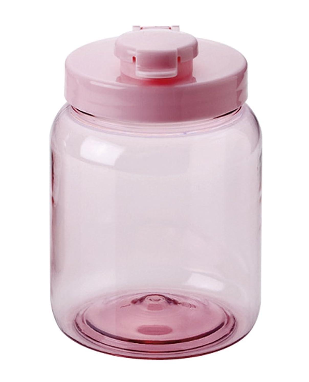 悪の薬理学ダム耐熱 液体密封保存びん 丸 1.0L ピンク