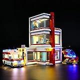 ADMLZQQ Kit De Iluminación Led para Lego City Hospital,Compatible con Ladrillos De Construcción Lego Modelo 60204, NO Incluido En El Modelo