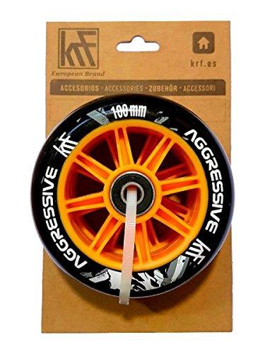 KRF AGR Roue Mixte Adulte, Noir, 100 mm