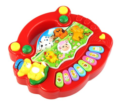 New Useful Baby Kid Animal Farm Piano Music Toy Developmental Red Toys and Hobbies Education Toys Christmas for Faclot