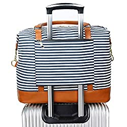 Tote that slides onto an the handle of a suitcase