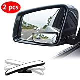 Blind Spot Mirror for Cars LIBERRWAY Car Side Mirror Blind Spot Auto Blind Spot Mirrors Wide Angle Mirror Convex Rear View Mirror Stick on Design Adjustable