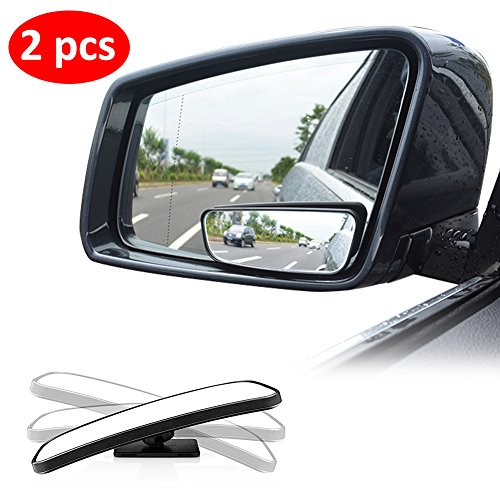 Bestgle 2 Pcs Adjustable Automotive Blind Spot Mirror Frameless Round HD Glass Self Adhesive Convex Rear View Car Side Mirror Blindspot Wide Angle Exterior Car Rearview for Vehicles /& Motorcycle /& Trucks /& SUV