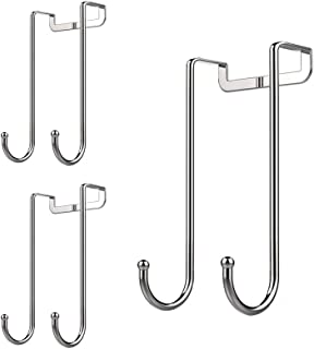 Dalanpa 1kuan Over Door Hook S Shaped Heavy Duty for Hanging - Single Hook Loads up to 50lbs for Kitchen, Bathroom, Bedroom and Office - Pack of 3