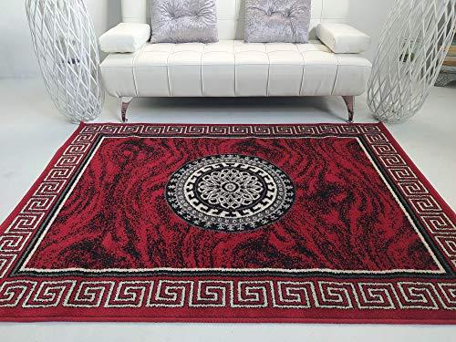 Stock ALFOMBRAS. Alfombra SALÓN Modelo VERSAC Rojo. 160x230. Alfombra Moderna, Elegante Y Confortable.