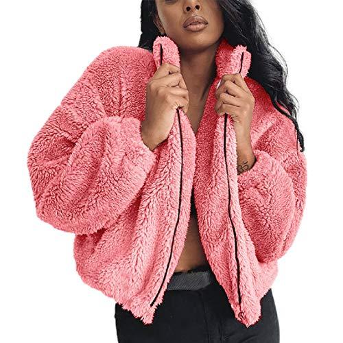Resplend Chaqueta CáLida de Piel SintéTica para Mujer Abrigo Parker Abrigo Mullido...
