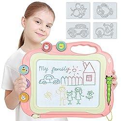 TTMOW Magnetische Maltafel für Kinder Geschenk 3 4 5 Jahre alt (Rosa)