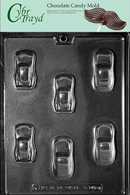 Cybrtrayd Life Of The Party K140 Cool Sports Cars Racers Chocolate Candy Mold In Sealed Protective Poly Bag Imprinted With Copyrighted Cybrtrayd Molding Instructions