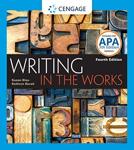 Writing in the Works: 2016 Mla Update Edition