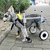 Sobotoo Silla de Ruedas para Perro, Ajustable y de Apoyo Completo, 4 Ruedas, Carrito para Perros, Patas Delanteras y traseras, rehabilitación para Perros y Gatos pequeños con discapacidad