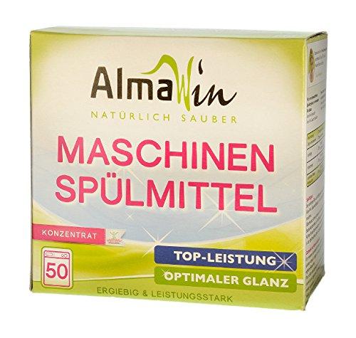 AlmaWin Maschinenspülmittel, Konzentrat für 50 Spülgänge 1250 g vegan, Ecocert, 1er Pack (1 x 1.25 l)