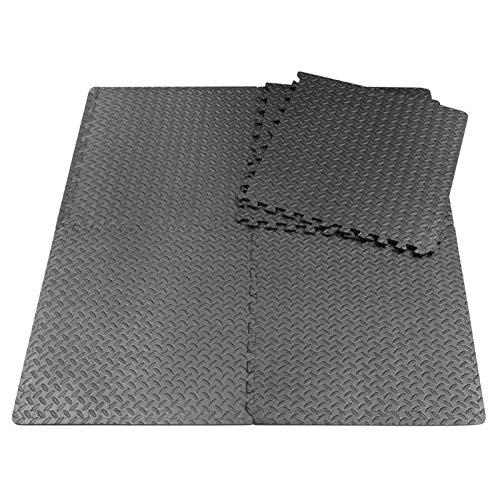 iBaste 6 piezas de esterilla de entrenamiento puzzle de espuma EVA interlocking Tiles, esterilla de entrenamiento de espuma para el gimnasio en casa