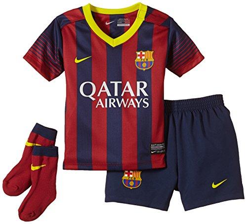 Nike Kinder Anzug FC Barcelona Infants Home Kit, Midnight Navy/Storm Red/Vibrant Yellow, 12-18