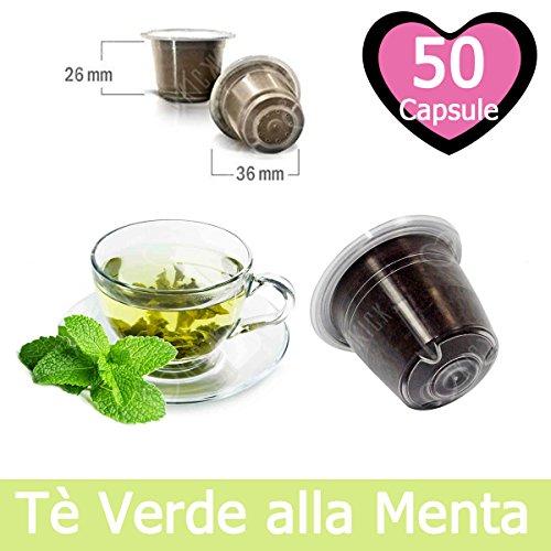 50 Capsulas Té Verde Menta Compatibles Nespresso - Café Kickkick