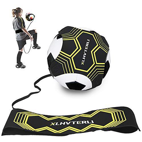 Fußball Kick Trainer,Fußball Trainingsgeräte Hands Free Solo ,Soccer Practice Training mit Verstellbarem...