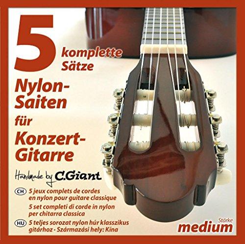 Saiten für Konzertgitarre 5 Sätze