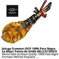 Paleta de Jamon Iberico de Bellota 100% Iberico DOP Jabugo Summun - Jamon de Jabugo Pata Negra con Calidad Certificada Summun - Embutidos Ibericos de Bellota - Pieza Tradicional Completa 5,5 - 6 kg