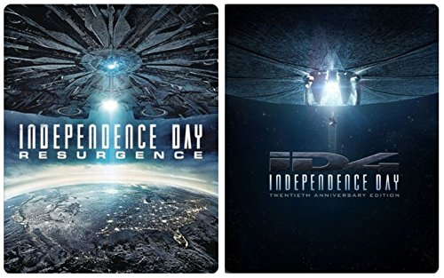 iD4 & Independence Day Ressurgence Exclusive Steelbook Sci-Fi Blu Ray Space Double Feature Action Space Movie Set 20th