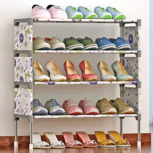Phoetya - Organizador de zapatos, a prueba de polvo, moderno, económico, de hierro, montaje rápido, no requiere herramientas (#2)