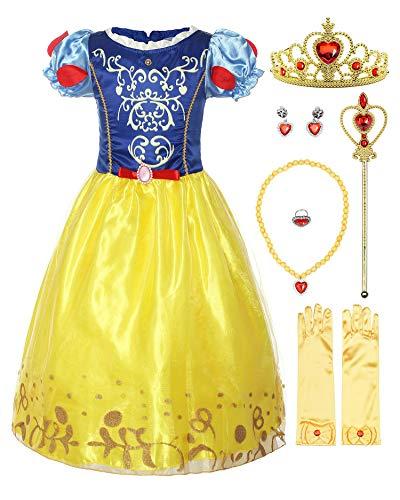 ReliBeauty Girls Puff Sleeve Fancy Dress...