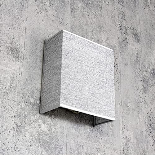 ALICE Wandlampe Stoff Lampenschirm Grau blendarm E27 Up Down Leuchte Loft Design Schlafzimmer Wohnzimmer