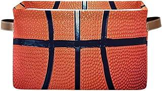 Doshine Panier de rangement pliable avec poignées Motif ballon de basket de sport Grand panier à linge pour organiser les ...