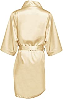 b86aeaac96 GirlEO Little Girl (Kids) Satin Plain Bridal Party Robes- Flower Girl Robes  in