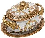 Better & Best Soperita P Sopera de cerámica Jockey, redonda, con asas de bronce, con tapa...