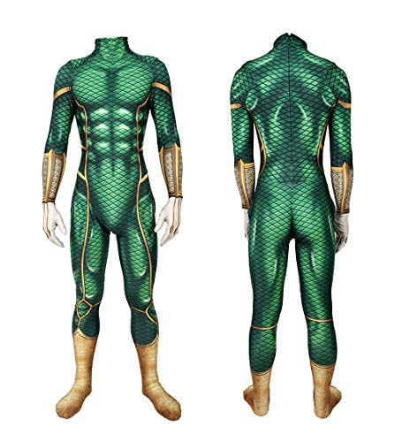 NVHAIM Adulto/Bambini 3D Style Stretch Body, Spider-Man Tangsuits Green Cosplay Costume Tight Set Gioco Game Anime Ruolo Indumento Eroi Costume spedizione, Adult M