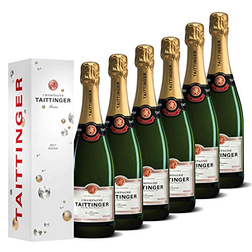 Taittinger Champagner Set 6x 0,75l Brut Réserve jeweils in Geschenkverpackung - Champagnerset