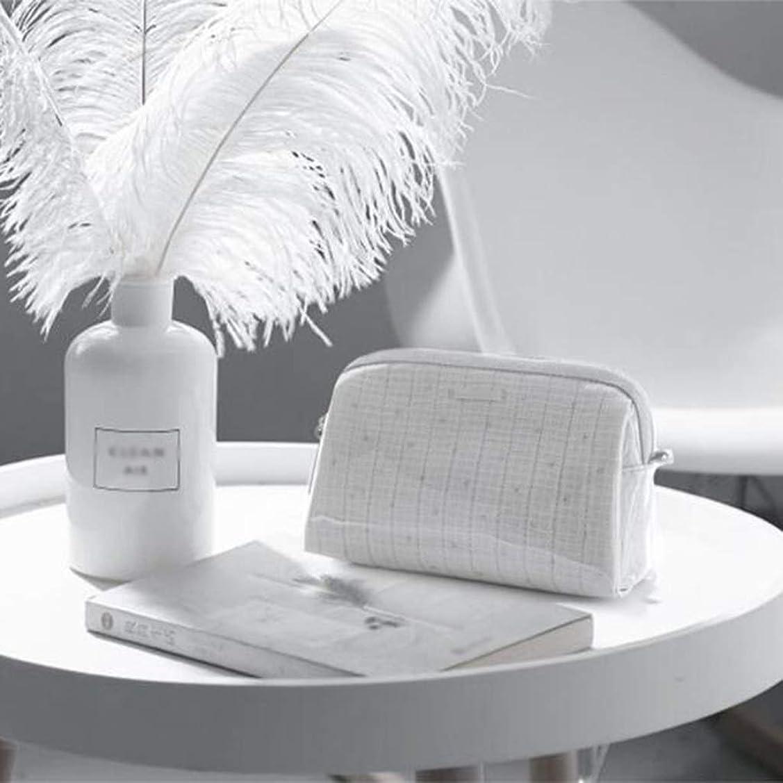 統計付録ことわざDWWSP ポータブル化粧品袋大容量収納袋内蔵のコットン生地で傾けることができます本体プラスチック防水性と防塵性グレー 化粧品のバッグ
