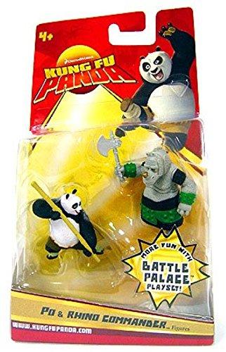 Kung Fu Panda Movie Figure 2-Pack Po & Rhino Commander