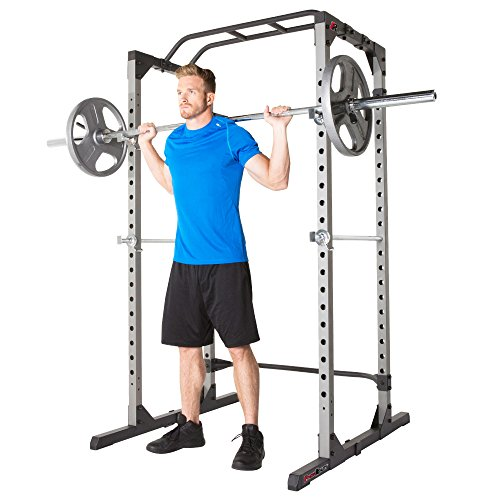 Fitness Reality 810XLT Super Max Power Cage with The 800 lb Capacity Super Max 1000 Weight Bench Combo
