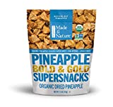 Made in Nature Organic Dried Pineapples, 7.5 Ounce (Pack of 1) - Non-GMO Vegan Dried Fruit Snack