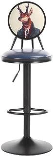 NMDB Tabouret Bar  Chaise Barre Rotation 360   degres reglable Hauteur avec Dossier forge pour Chaise creative Restaurant cafe cafe