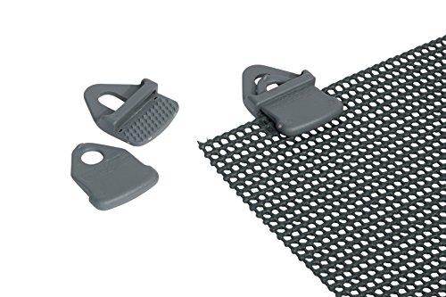Bo-Camp Set 4Clips für Fußmatten Grau