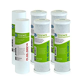 APEC Water Systems FILTER-SET-ESX2 2 Sets of High Capacity Replacement Pre-Filter Sets For Essence Series Reverse Osmosis Water Filter System Stage 1-3,White (B00SSA7OBM) | Amazon price tracker / tracking, Amazon price history charts, Amazon price watches, Amazon price drop alerts