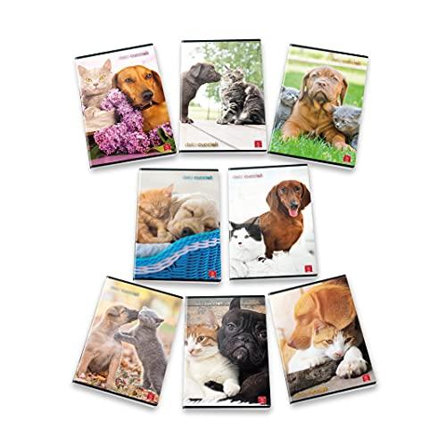 Pigna Maxi Quaderni A4 Dolci Cuccioli, Confezione da 10 Pezzi, 02307691R, Righe